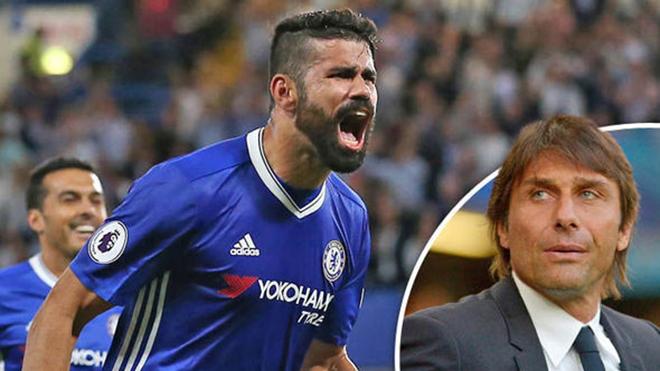 Chelsea choáng váng bởi tin nhắn 'đuổi' Diego Costa của HLV Conte
