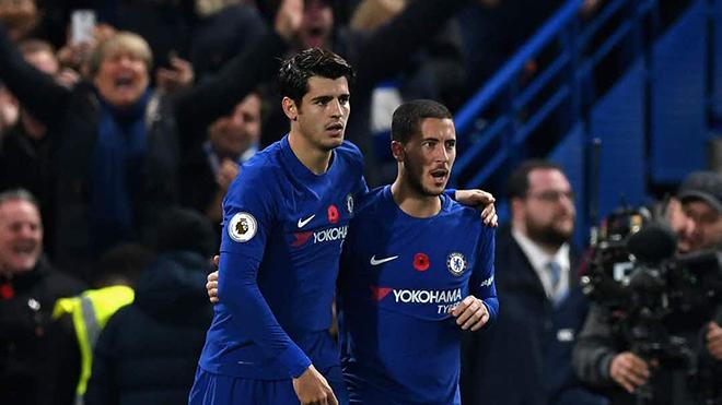 West Brom 0-4 Chelsea: Với Hazard & Morata, Chelsea vẫn bám đuổi Man City