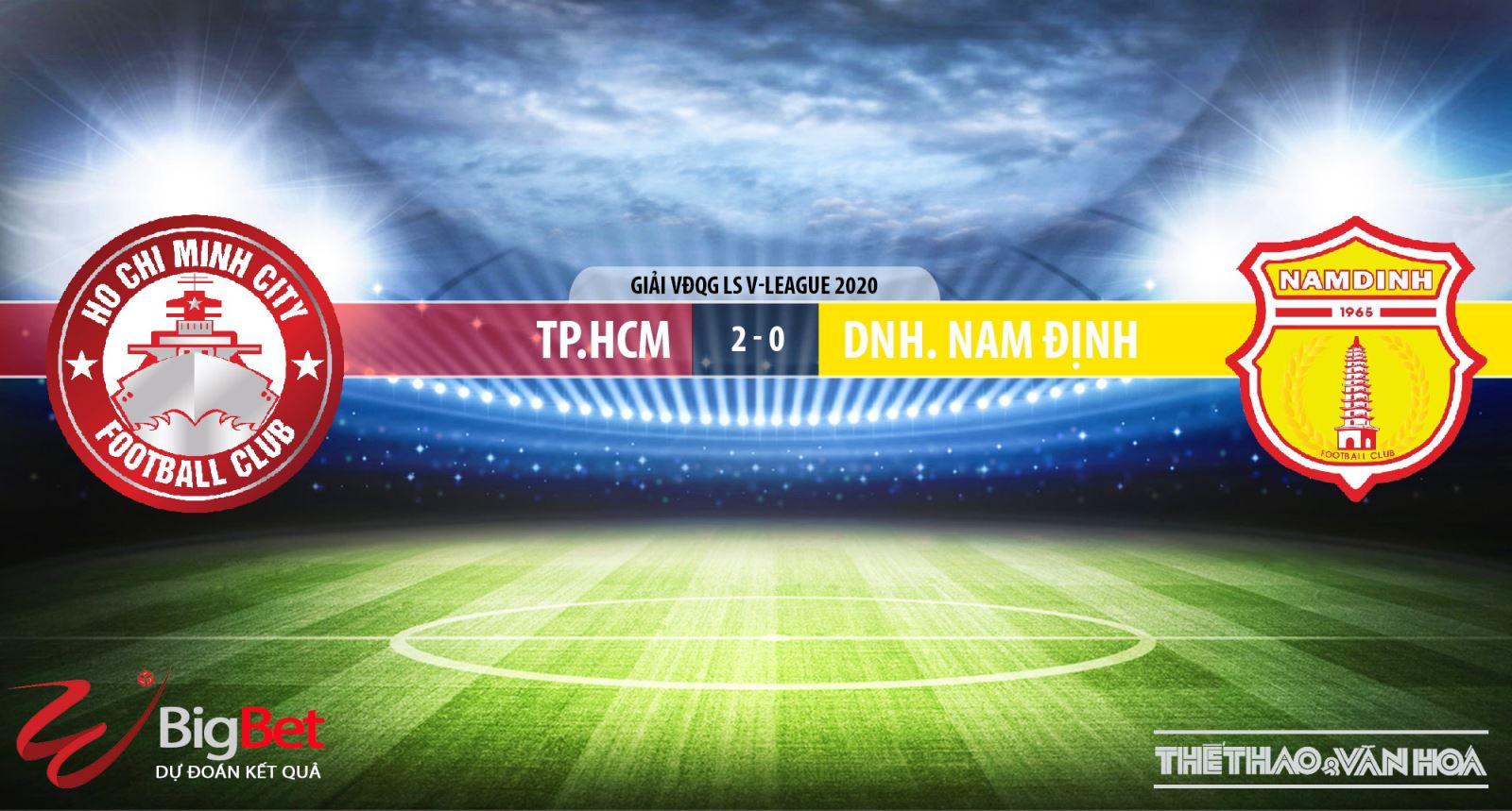 Keo nha cai, kèo nhà cái, TPHCM vs Nam Định, trực tiếp bóng đá, TTTV, Trực tiếp bóng đá V-League 2020, trực tiếp bóng đá Việt Nam, trực tiếp TPHCM  Nam Định, kèo bóng đá