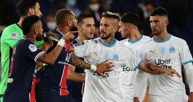 Bong da, bóng đá hôm nay, Neymar, PSG, PSG vs Marseille, bóng đá Pháp, kết quả bóng đá hôm nay, Neymar bị phân biệt chủng tộc, Neymar bị thẻ đỏ, Neymar bị đuổi