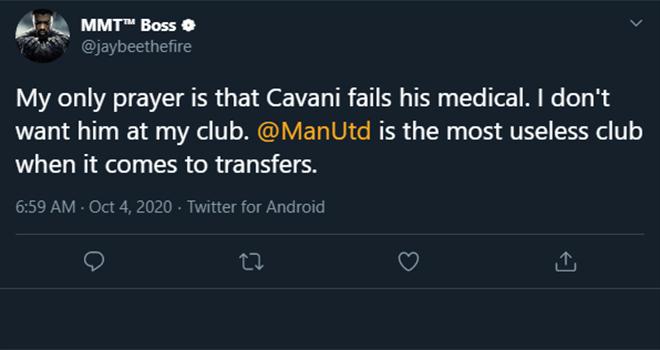 MU, Chuyển nhượng MU, MU mua Cavani, MU chiêu mộ Cavani, Chuyển nhượng bóng đá, Cavani, Cavani gia nhập MU, Cavani tới MU,  tin chuyển nhượng, CĐV MU chán nản, bong da