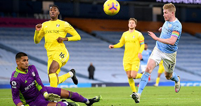 Man City 2-0 Fulham, kết quả bóng đá, ket qua ngoại hạng Anh, kết quả Man City đấu với Fulham, video clip bàn thắng Man City vs Fulham, bảng xếp hạng Ngoại hạng Anh