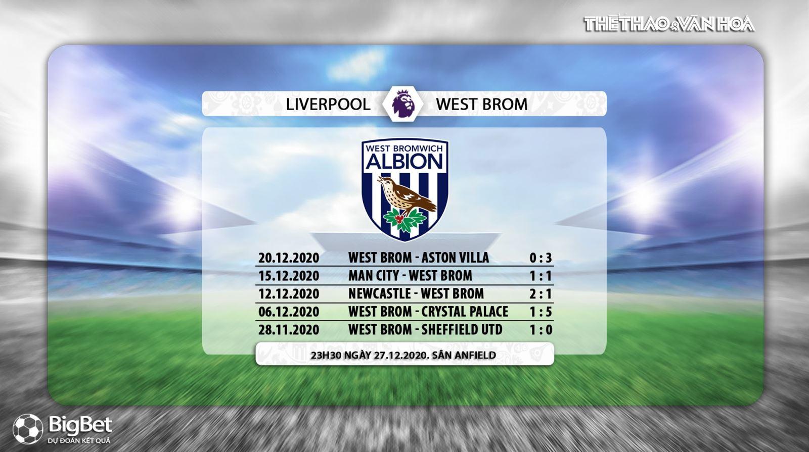 Trực tiếp bóng đá: Liverpool vs West Brom. K+, K+PM trực tiếp Ngoại hạng Anh hôm nay. Trực tiếp bóng đá Liverpool vs West Brom. Xem bóng đá trực tiếp Liverpool-West Brom