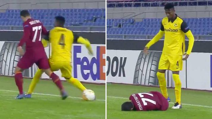 Mkhitaryan bị đấm vào mặt sau va chạm với hậu vệ Young Boys