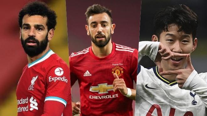 Cuộc đua phá lưới Ngoại hạng Anh: Salah sáng giá nhất. Bruno Fernandes xếp sau Son Heung-min