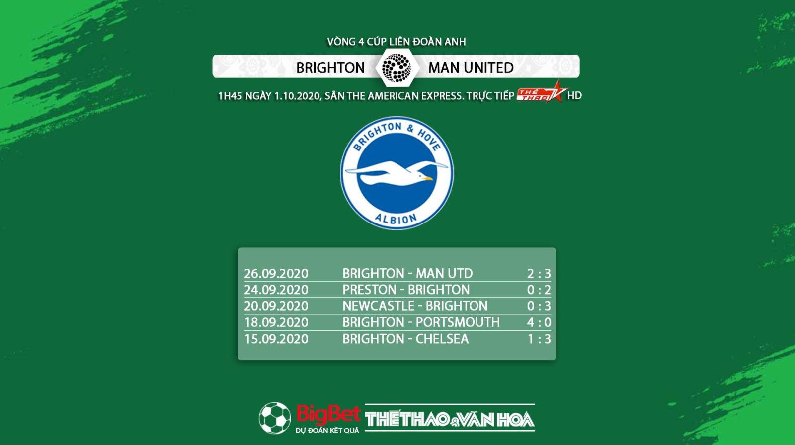 keo nha cai, Kèo nhà cái, Brighton vs MU, Vòng 4 Cúp Liên đoàn Anh, Trực tiếp bóng đá Anh, Soi kèo Brighton đấu với MU, Kèo MU, trực tiếp MU đấu với Brighton