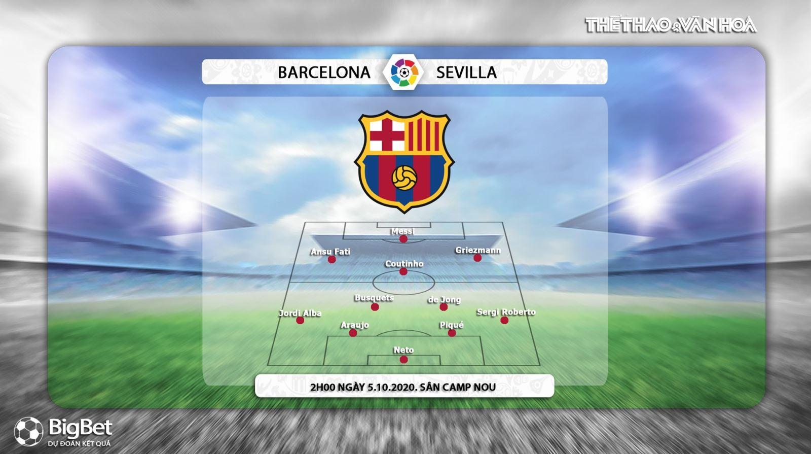 Keo nha cai, kèo nhà cái, Barcelona vs Sevilla, Vòng 5 La Liga, Trực tiếp BĐTV, Trực tiếp bóng đá Tây Ban Nha vòng 5, Soi kèo Barcelona đấu với Sevilla, Kèo Barcelona