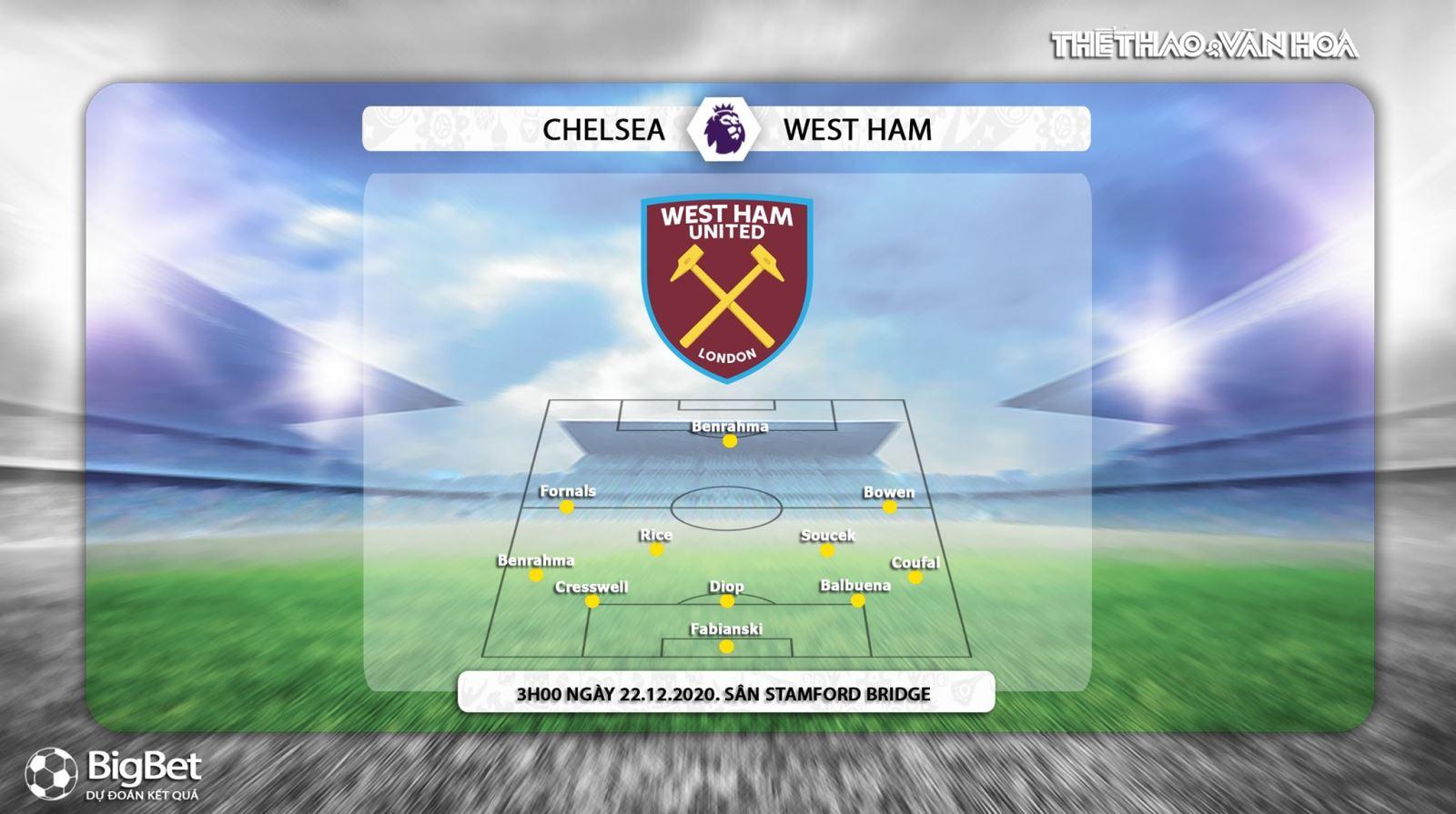 Keo nha cai, Kèo nhà cái, Chelsea vs West Ham, Trực tiếp bóng đá, Ngoại hạng Anh vòng 14, soi kèo Chelsea vs West Ham, trực tiếp Chelsea vs West Ham, Kèo Chelsea, K+PM