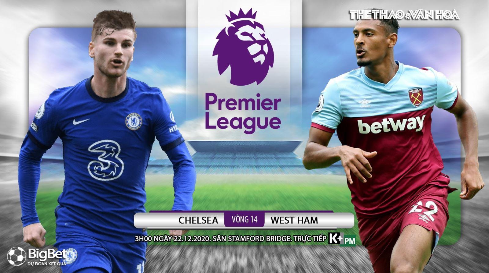 Soi kèo nhà cái Chelsea vs West Ham. Trực tiếp bóng đá vòng 14 Giải Ngoại hạng Anh