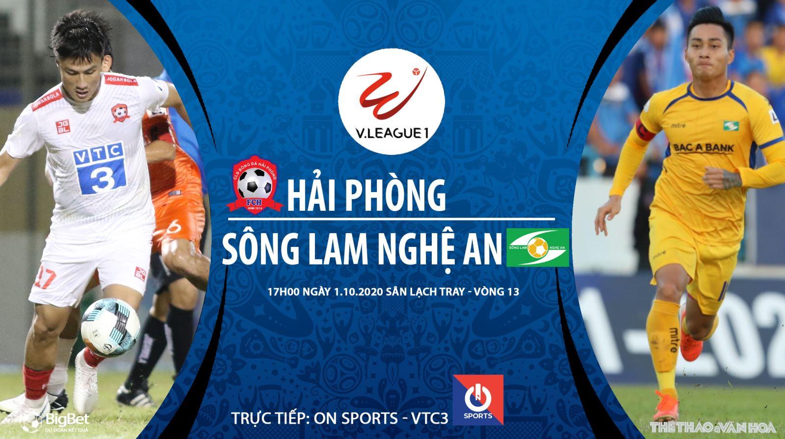 Soi kèo nhà cái Hải Phòng vs SLNA. Trực tiếp bóng đá V-League vòng 13. VTC3