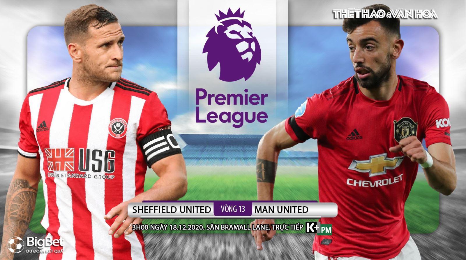 Soi kèo nhà cái Sheffield United vs MU. Trực tiếp bóng đá vòng 13 Giải Ngoại hạng Anh
