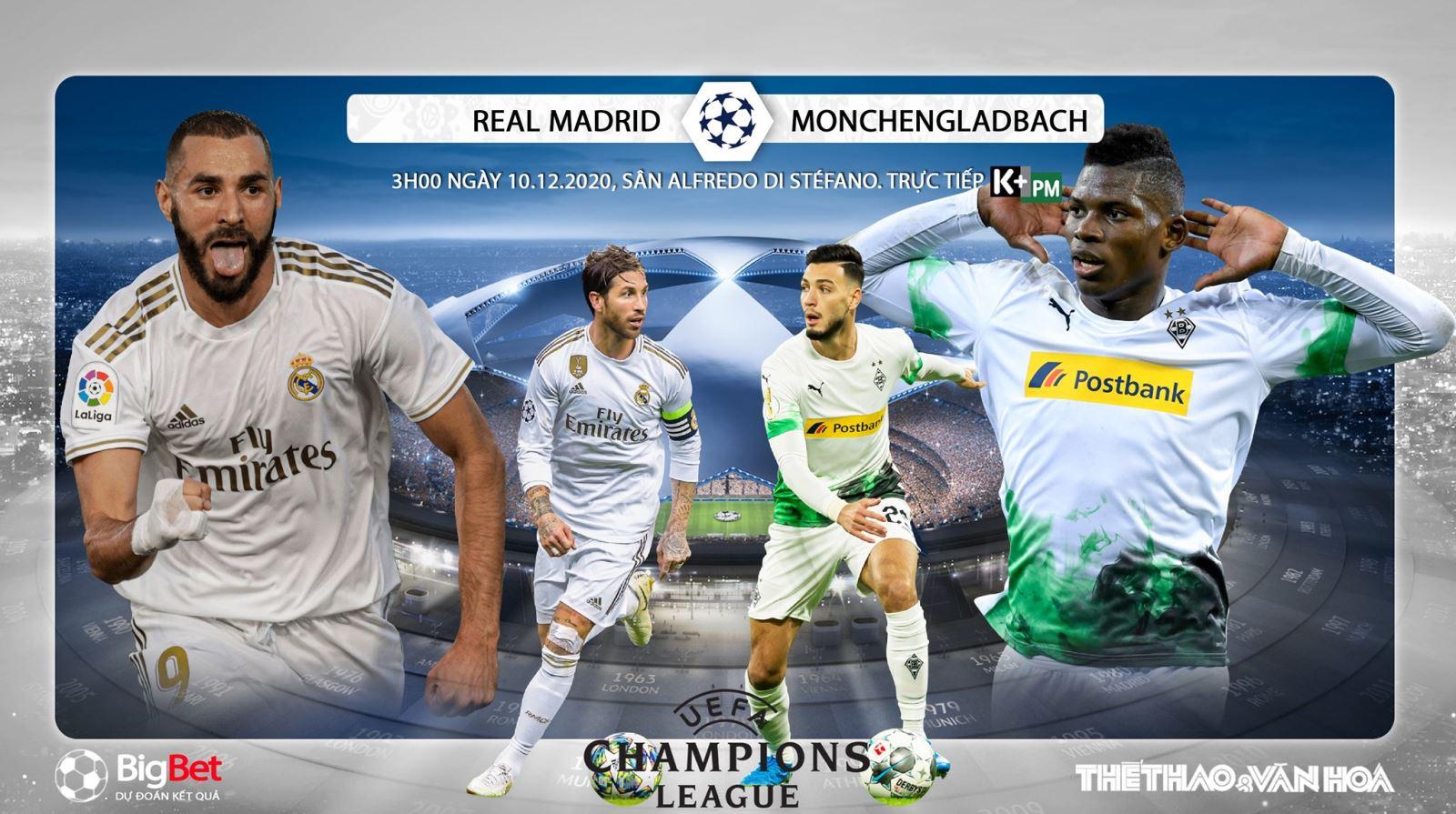 Soi kèo nhà cái Real Madrid vs Gladbach. Trực tiếp Cúp C1 châu Âu
