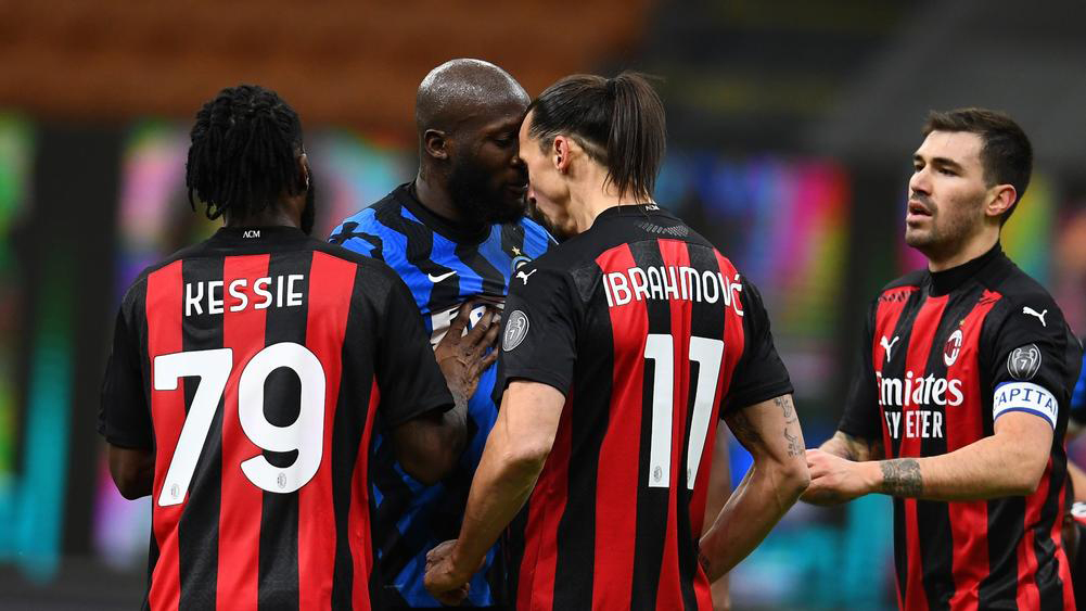 Ibrahimovic và Lukaku bị cấm thi đấu 1 trận vì suýt ẩu đả ở derby Milano