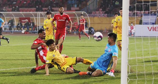 bóng đá Việt Nam, tin tức bóng đá, bong da, tin bong da, Viettel 0-1 Hải Phòng, HLV Trương Việt Hoàng, kết quả bóng đá, BXH V League, Thanh Hóa vs Viettel