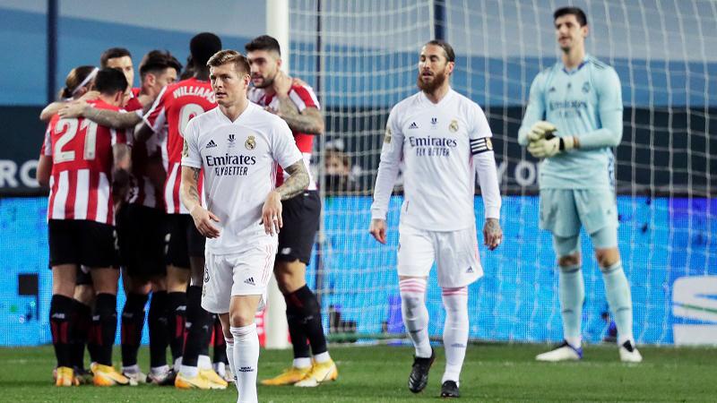 Real Madrid 1-2 Bilbao: Real lỡ cơ hội gặp Barca ở chung kết Siêu cúp TBN
