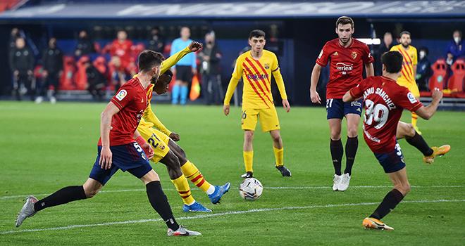 Ket qua bong da, Osasuna vs Barcelona, Video Osasuna 0-2 Barcelona, BXH La Liga, kết quả Osasuna vs Barcelona, kết quả La Liga, Messi lập cú đúp kiến tạo, Dembele, Moriba