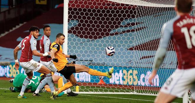 Ket qua bong da, Aston Villa vs Wolves, Sao Ngoại hạng Anh bỏ lỡ không tưởng, video Aston Villa vs Wolves, kết quả Ngoại hạng Anh, BXH Ngoại hạng Anh, Romain Saiss bỏ lỡ