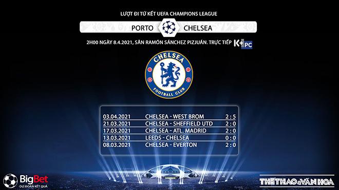 Trực tiếp bóng đá cúp C1: Porto vs Chelsea. K+, K+PC. Trực tiếp lượt đi Tứ kết Champions League. Trực tiếp K+ PC. Xem trực tiếp bóng đá hôm nay. Xem Chelsea
