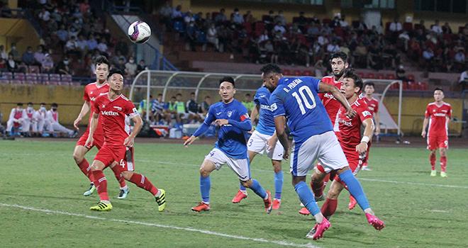 bóng đá Việt Nam, tin tức bóng đá, Viettel 2-1 Than Quảng Ninh, HLV Hoàng Thọ, HLV Than Quảng Ninh bỏ họp báo, BXH V-League vòng 10, Viettel