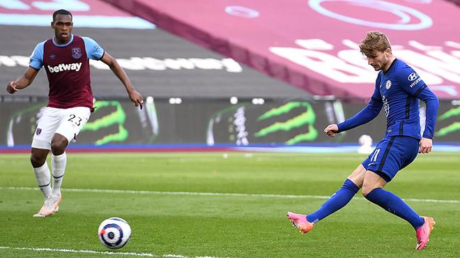 Kết quả bóng đá, West Ham vs Chelsea, Kết quả Ngoại hạng Anh, BXH Ngoại hạng Anh, kết quả West Ham vs Chelsea, video West Ham vs Chelsea, cuộc đua Top 4, Timo Wener, kqbd