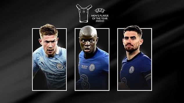 Cầu thủ xuất sắc nhất năm 2021, danh sách rút gọn cầu thủ xuất sắc, messi, de Bruyne, Jorginho, Kante, tin tuc bong da, UEFA, tin bóng đá hôm nay, chuyển nhượng bóng đá