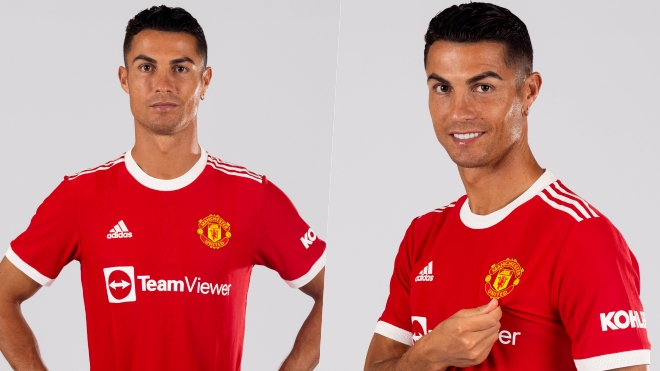 Ronaldo khoe những hình ảnh đầu tiên trong màu áo MU, chưa rõ số áo