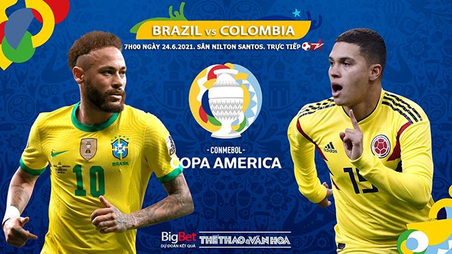 Kèo nhà cái. Soi kèoBrazil vs Colombia. BĐTV trực tiếp Copa America 2021