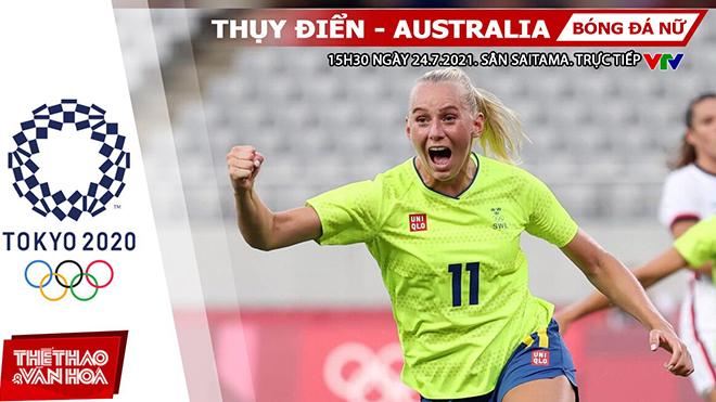 Kèo nhà cái. Soi kèo nữ Thụy Điển vs Úc. VTV6 VTV5 trực tiếp bóng đá Olympic 2021