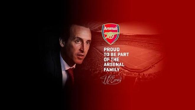 HLV Unai Emery 'tự hào là một phần của gia đình Arsenal'