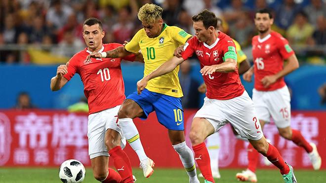 Neymar tịt ngòi, Brazil bị Thuỵ Sĩ cầm hoà 1-1 trong trận ra quân tại World Cup 2018