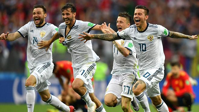 ĐIỂM NHẤN Tây Ban Nha 1-1 (penalty: 3-4) Nga: Các trung vệ là tâm điểm. Nga xứng đáng đi tiếp