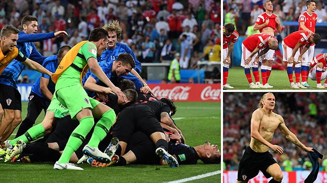 Thắng chủ nhà Nga ở loạt luân lưu căng thẳng, Croatia gặp Anh ở Bán kết