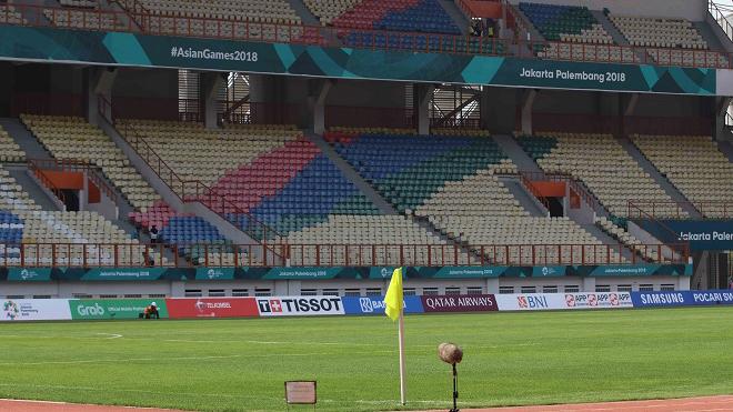 Khởi tranh bảng D ASIAD: Sân Wibawa Mukti đã sẵn sàng !