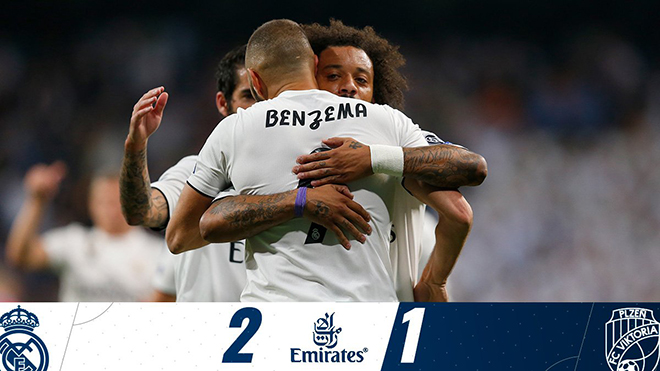 Video clip bàn thắng Real Madrid 2-1 Viktoria Plzen: Giải tỏa cơn khát chiến thắng