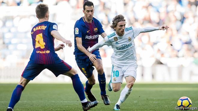 Trực tiếp bóng đá, truc tiep bong da, Trực tiếp Barcelona vs Real Madrid, trực tiếp Kinh điển, Barca vs Real, Modric bóng vàng, Busquets, Messi, Ronaldo, lịch thi đấu TBN
