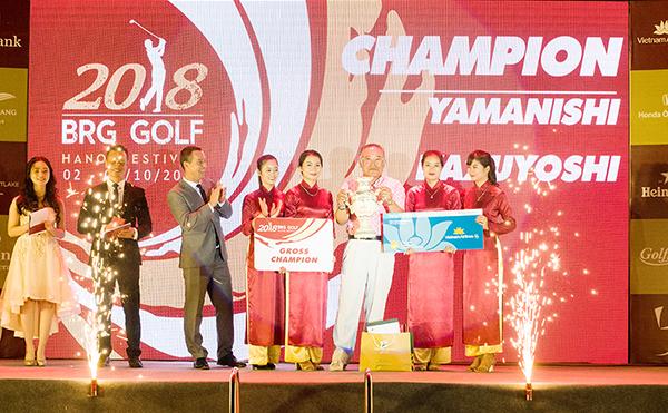 Lễ trao giải BRG Golf Hà nội Festival 2018: Dấu ấn tốt đẹp với gôn thủ quốc tế
