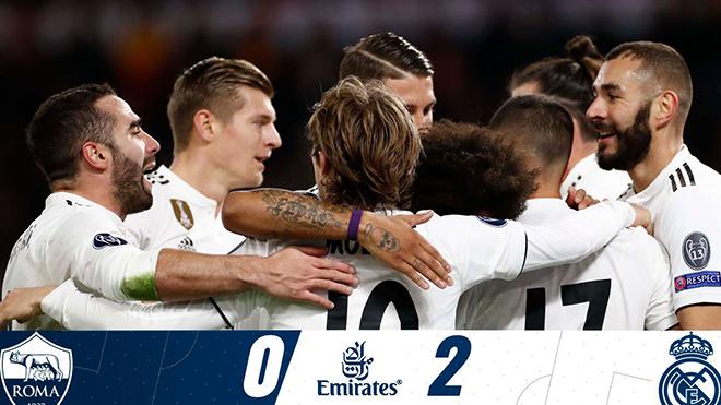 Video clip bàn thắng AS Roma 0-2 Real Madrid: Gareth Bale toả sáng, Real đi tiếp với ngôi đầu