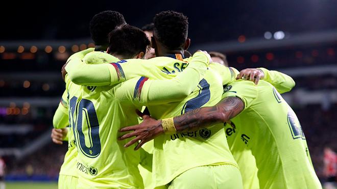 Video clip bàn thắng PSV 1-2 Barcelona: Leo Messi rực sáng trên đất Hà Lan