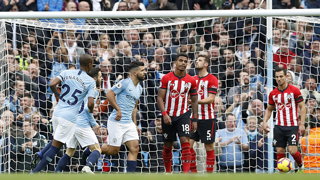 Man City 6-1 Southampton: Man City 'đánh tennis' trên Etihad
