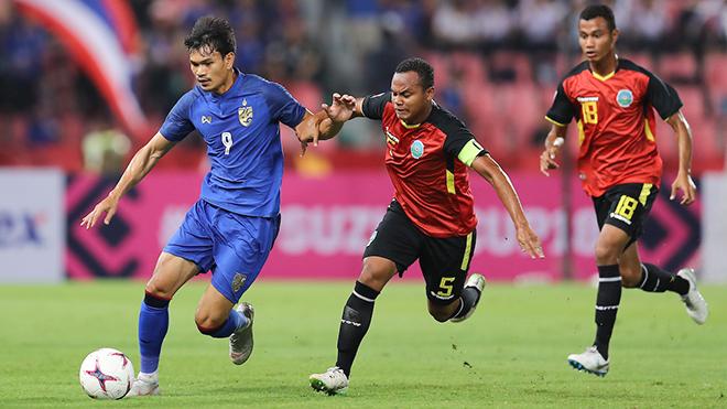 Timor Leste 0-7 Thái Lan: Tiền đạo Kraisorn ghi 6 bàn, ĐKVĐ phô diễn sức mạnh huỷ diệt