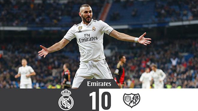 Video clip bàn thắng Real Madrid 1-0 Rayo Vallecano: Người hùng Karim Benzema