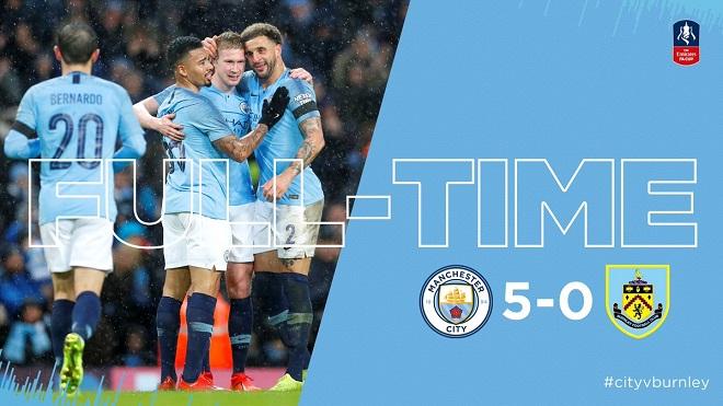VIDEO Man City 5-0 Burnley: Chiến thắng '5 sao' trên Etihad