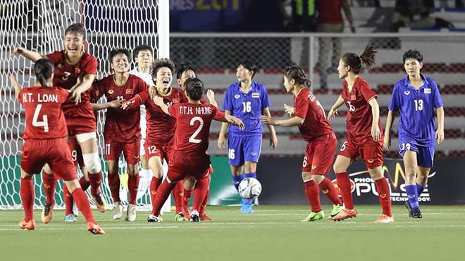 Bong da, bóng đá, đội tuyển nữ Việt Nam, nữ Việt Nam, SEA Games 30, SEA Game 2019, huy chương vàng, HCV, BXH FIFA, xếp hạng FIFA, nữ Thái Lan, Việt Nam vượt Thái Lan