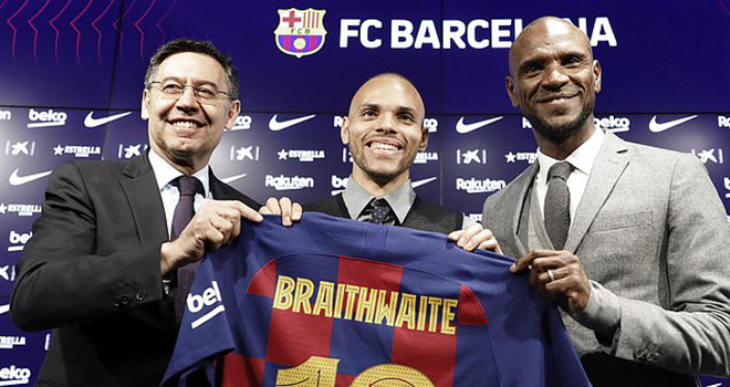 Barca, chuyển nhượng Barca, Barcelona, chuyển nhượng Barcelona, tin tức Barca, tin bong da, Barca mua Braithwaite, Braithwaite đến Barca, tin bóng đá Tây Ban Nha